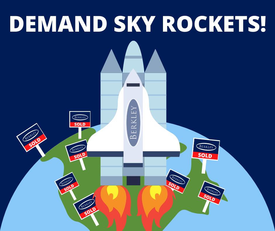 A berkley Estates rocket taking off as property demand skyrockets