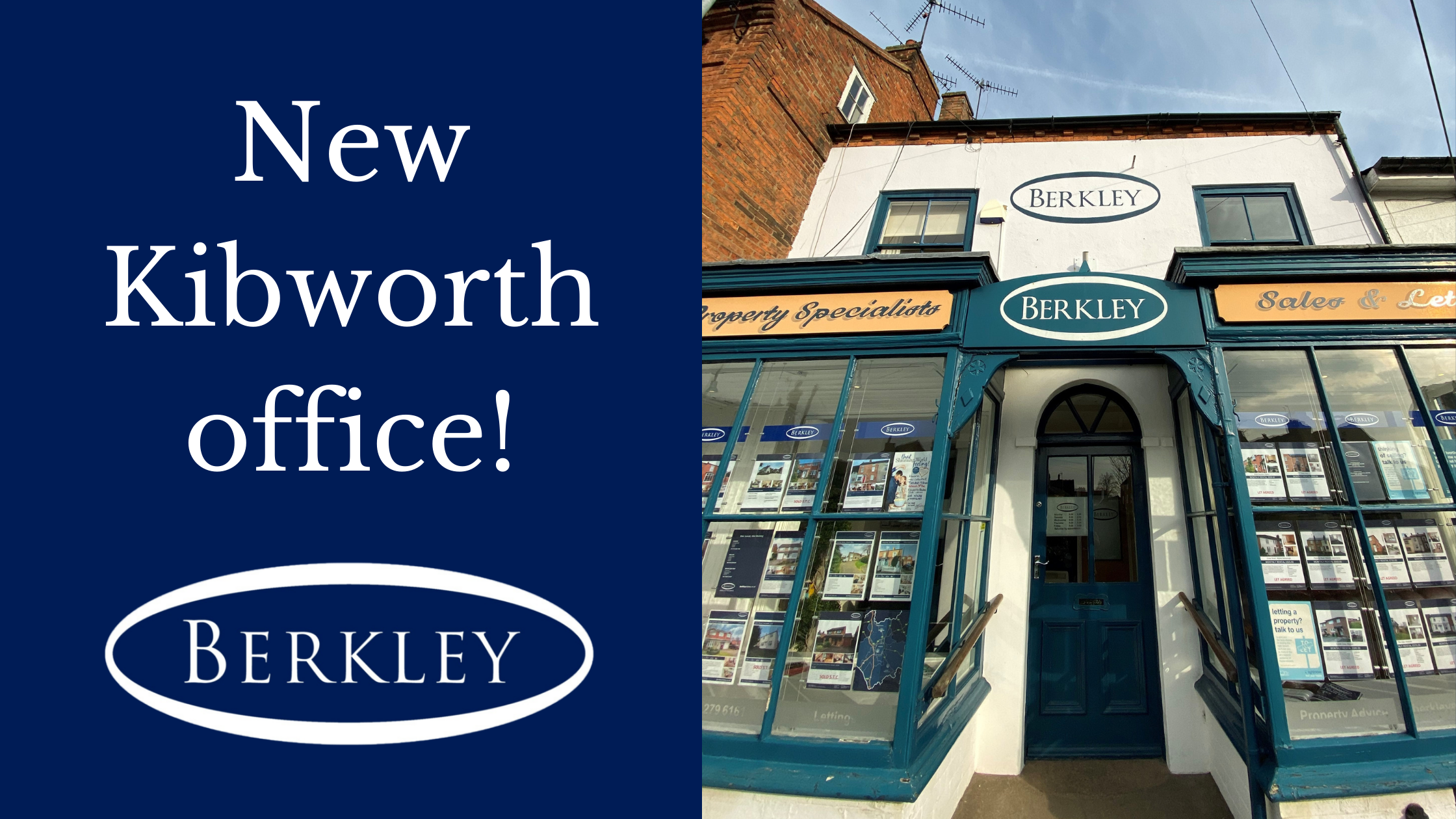 Our Berkley Kibworth Office is moving
